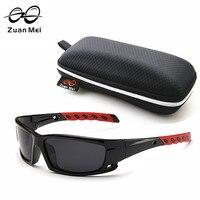 Zuan مي الساخن بيع الاستقطاب النظارات الشمسية الرجال الصيف للقيادة بجولة gafas دي سول محب الضروري ZM8519