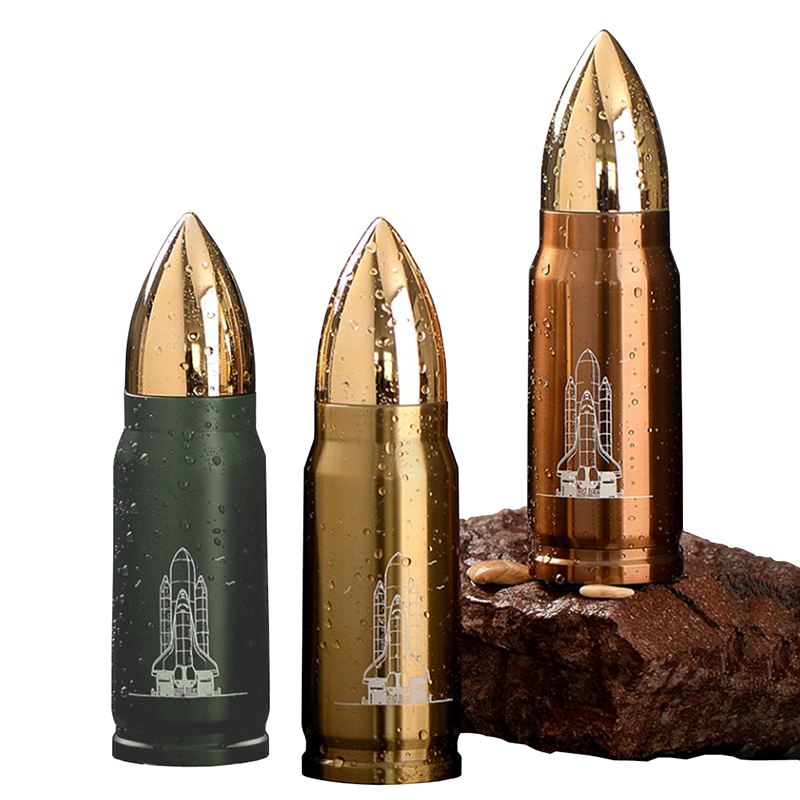 New Army Style BEST Gift Stainless Steel Bullet Bottle for COLD HOT Water Coffee Tea and