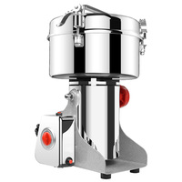 Chinese Herbal Medicine Powdering Grinding Machine Stainless Steel Commercial Small Grinder With Free Shipping