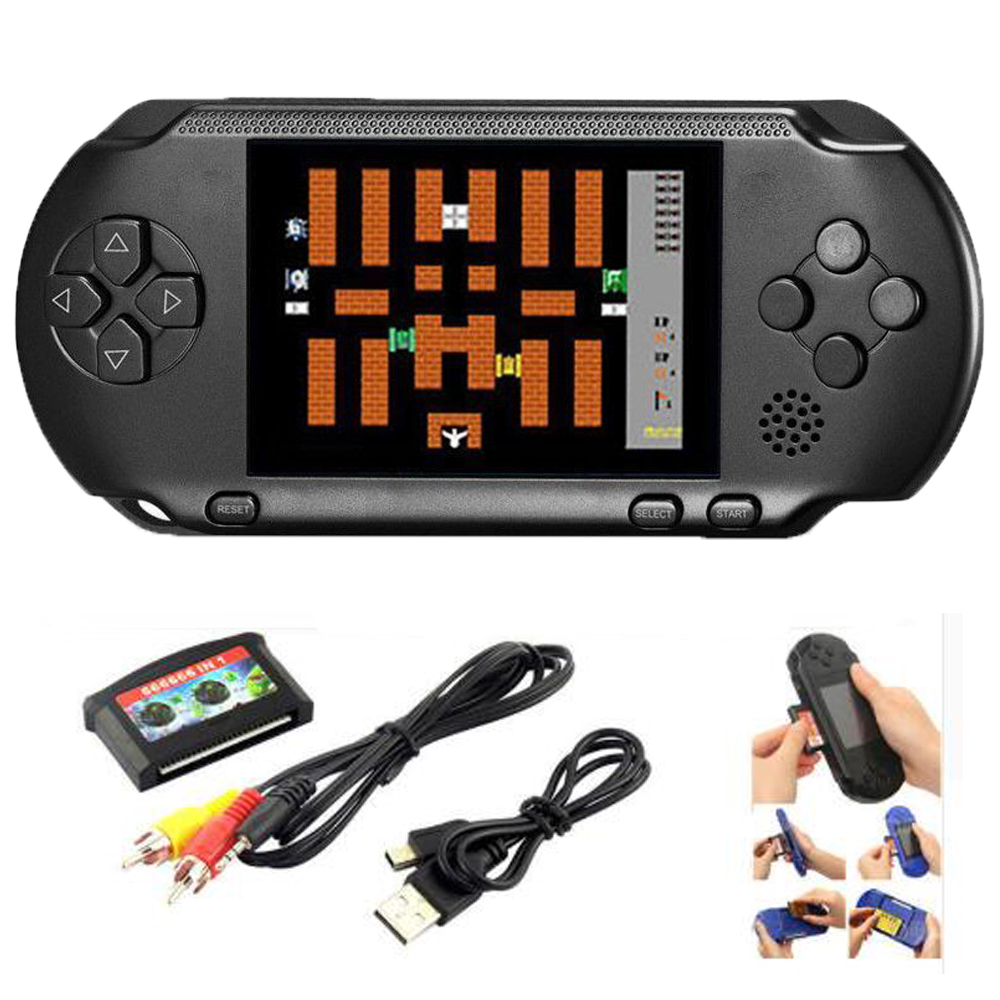 JAUNA PXP 3 16 BIT PVP ROKTURIS PORTABLE VIDEO SPĒLES CONSOLE 150 RETRO MEGADRIVE