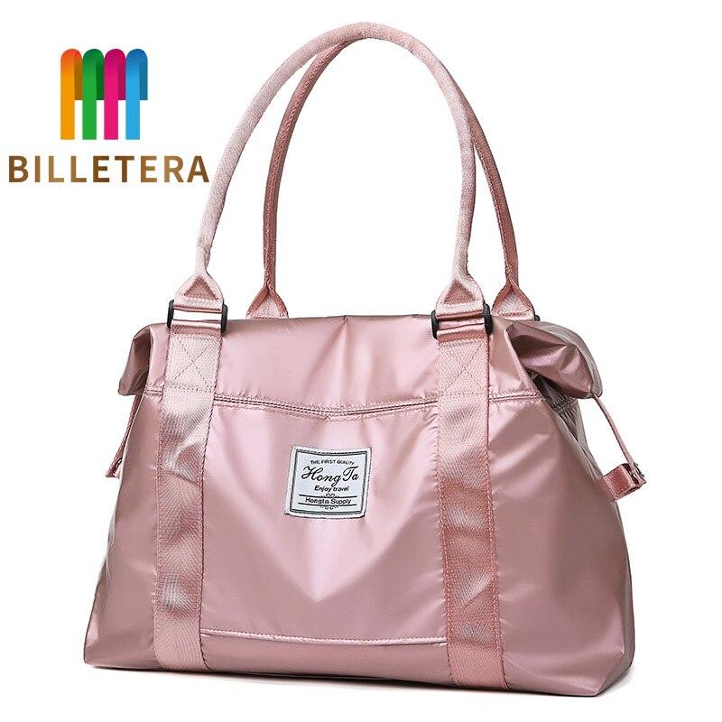 BILLETERA New Travel Bag Fashion Shoulder Sports Men And Women Large Capacity Fitness Bag Nylon Cloth Women's Bag