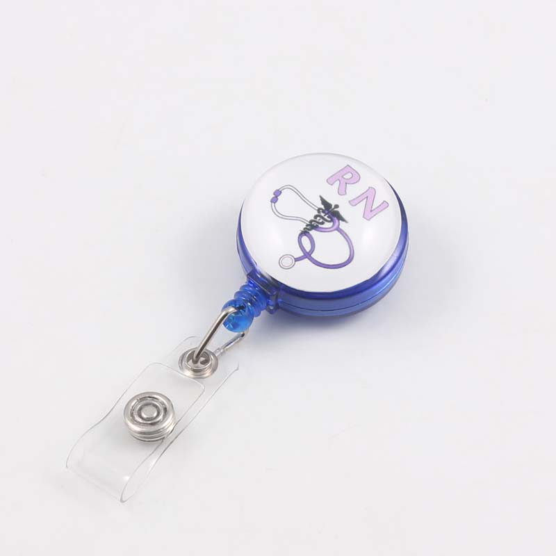EMT Carabiner Badge Reel Nurse Medical Retractable ID Holder Key-Bak