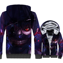 3D Print Anime Cosplay Sweatshirts 2018 New Hot Thick Fleece Mens Hoodies Hip Hop Tokyo Ghoul Unisex Coats Harajuku Tracksuits