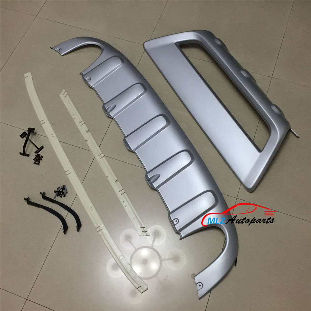 Car Front And Rear Bumper Skid Protector PU Guard Plate Cover ABS For VOLVO XC60 2009 2010 2011 2012 2013 car accessories abs front rear bumpers car bumper protector guard skid plate fit for 2012 2014 great wall haval hover m4