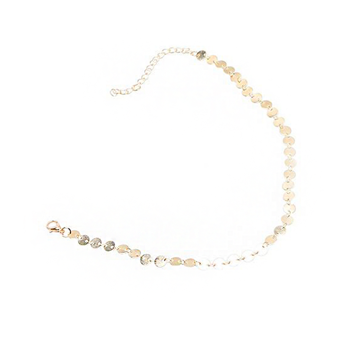 Collier Femme 2017 Choker Maxi Necklace For Women Sequin Disc Gold Silver Chain Collar Statement Neckalce Ladies Fashion Jewelry