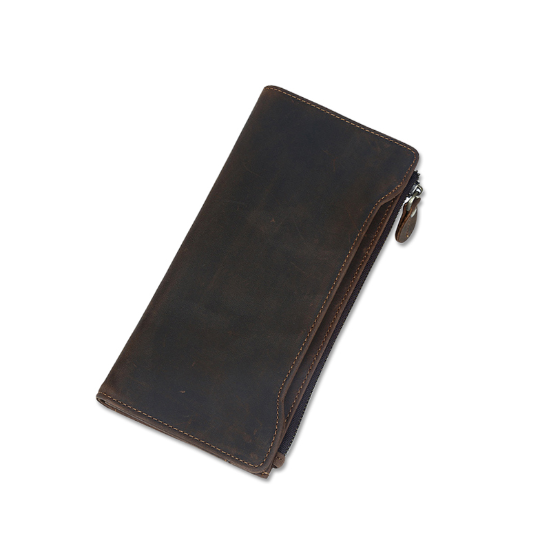 Male purse Cow Genuine Leather Men Wallets Luxury Casual Long Style Coin Purse Pocket Card Holder Zipper Female Male Wallet 2016 top hot fashion genuine cow leather brand men wallets coin pocket male purse card holder