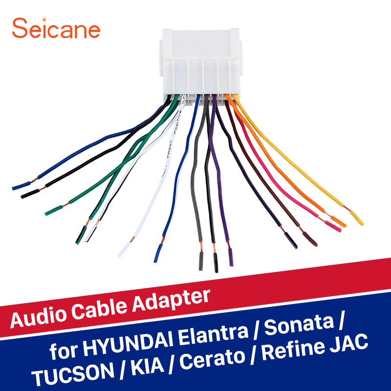 Seicane Cheap White Universal Audio Cable Sound Wiring Harness Adapter For Hyundai Elantra