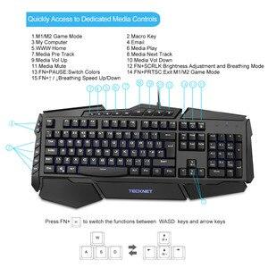 Image 3 - Clavier de jeu Programmable TeckNet led 7 couleurs claviers de jeu rétroéclairés arc en ciel conception résistante à leau disposition britannique pour Windows