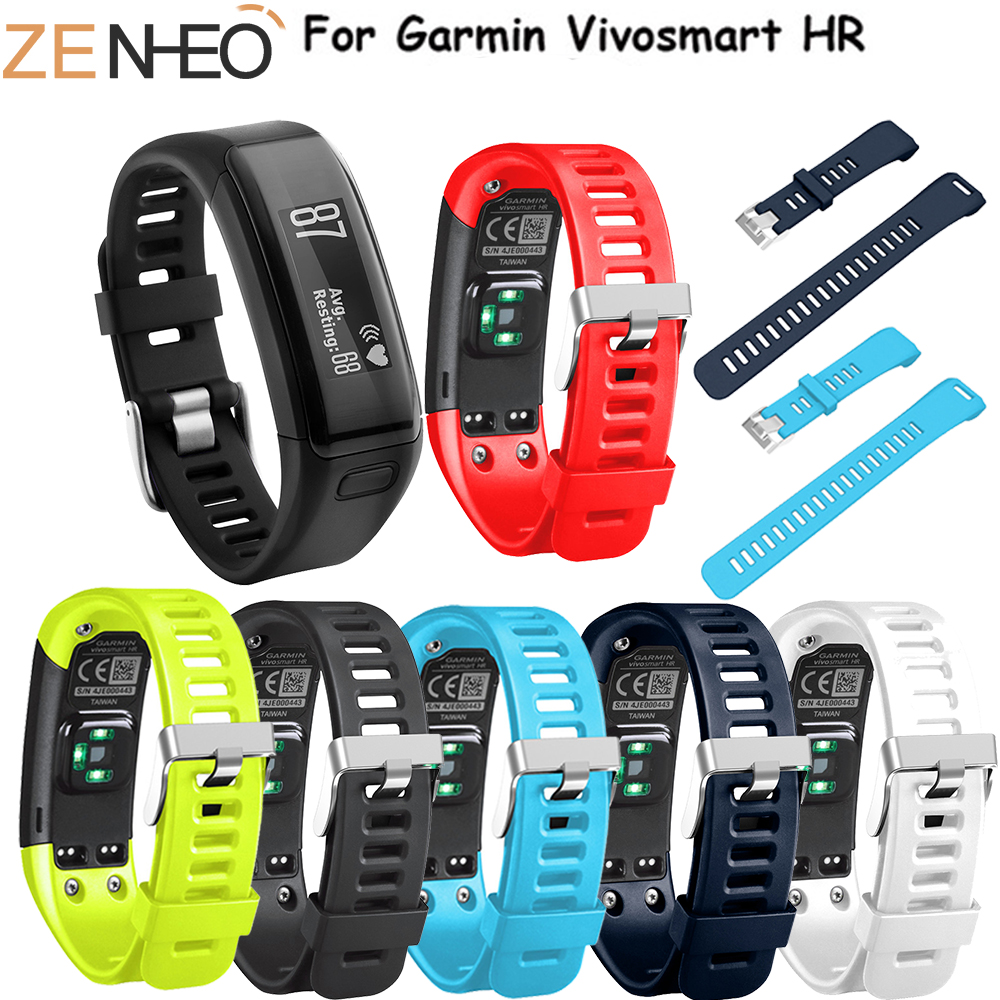 WatchBand Replacement Soft Silicone Sport Wristband For Garmin Vivosmart HR Band For Garmin Vivosmart HR Bracelet Watch Strap