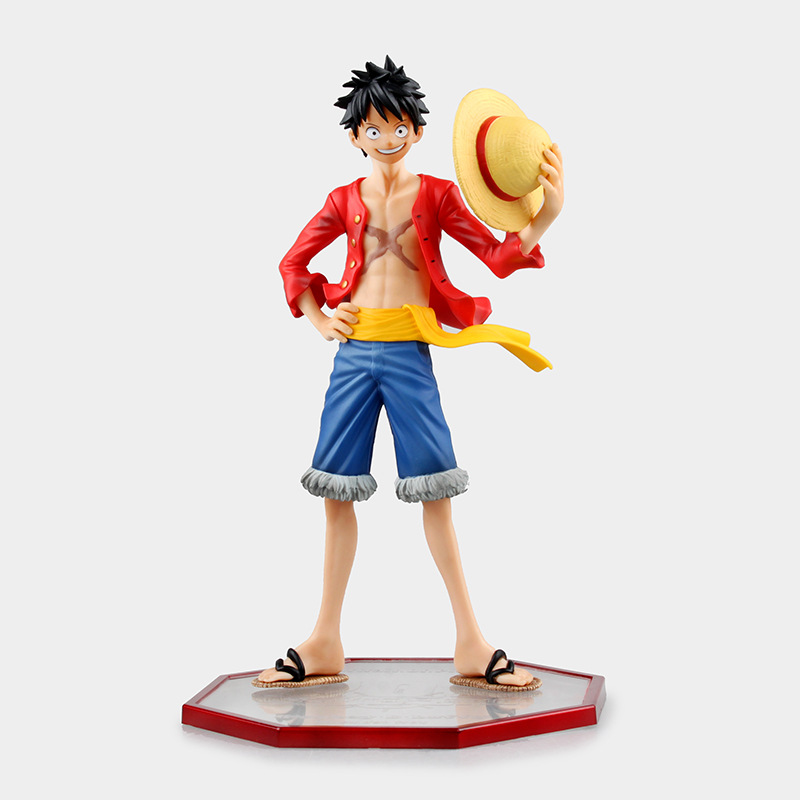 Anime One Piece Monkey D Luffy P.O.P Sailing Again Two Years Later PVC Action Figure Collectible  Model Toy 24cm KT2849 anime one piece monkey d luffy gear fourth pvc action figure collection model toy