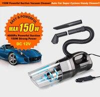 Portable Super Ciclone Palmare Auto Aspirapolvere Asciutto Bagnato 12 V 150 W Dirt Dust Conveniente Vuoto per Una Rapida Pulizia-ups Intorno All'automobile