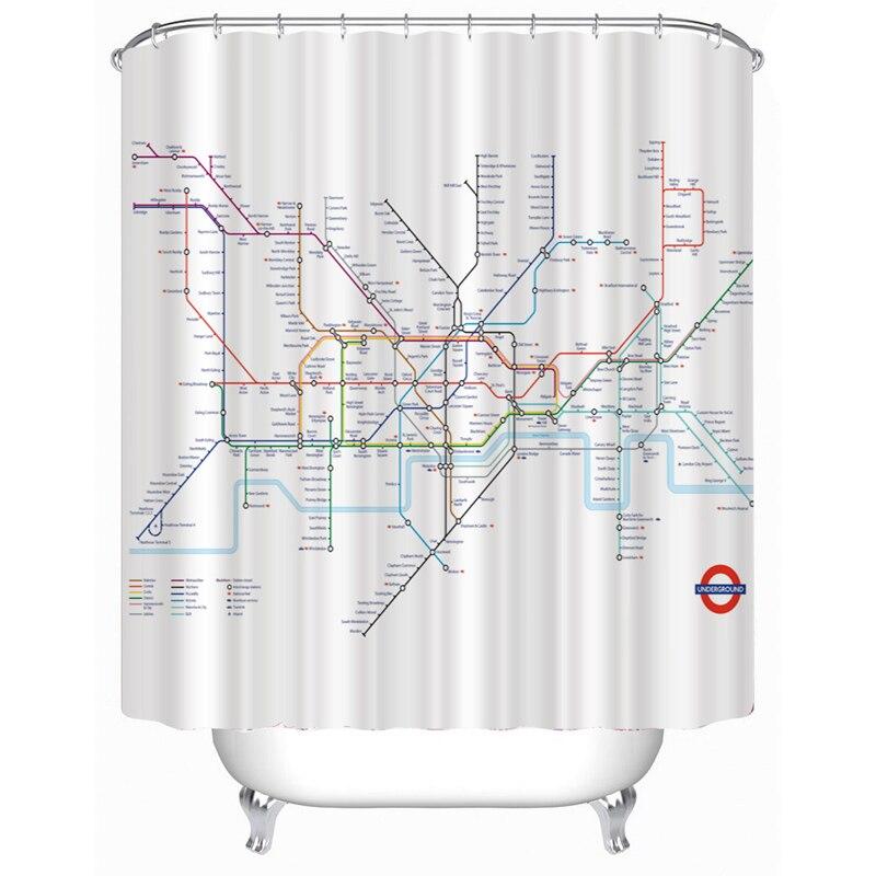 Compra mapa del metro de londres de la cortina de ducha for Lista de precios subway