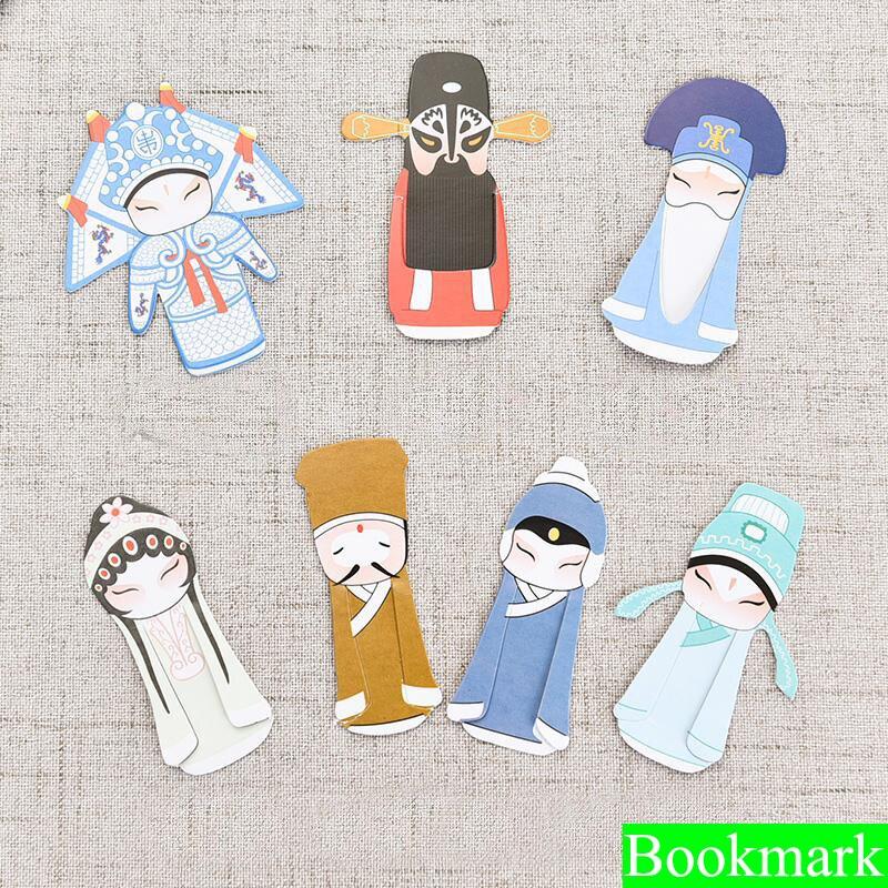 1 Set Creative Peking Opera Bookmark Papelaria Bookmark Boekenlegger Bookmarks For Read Books Holder School Supplies 01441