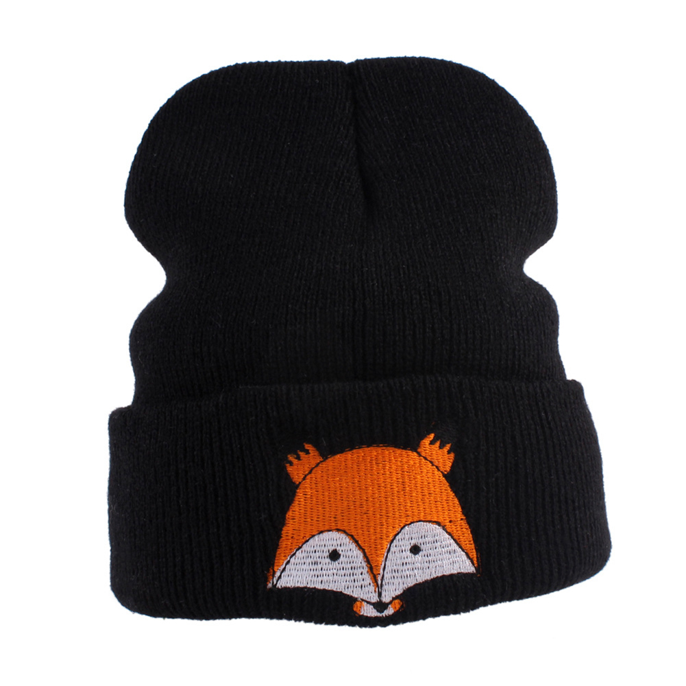 Winter Beanie Baby Sweater Fox Ktfgs Girls Boys Wool Warm Scarf Hood Holds Hats Apparel Accessories Grey Girl's Hats