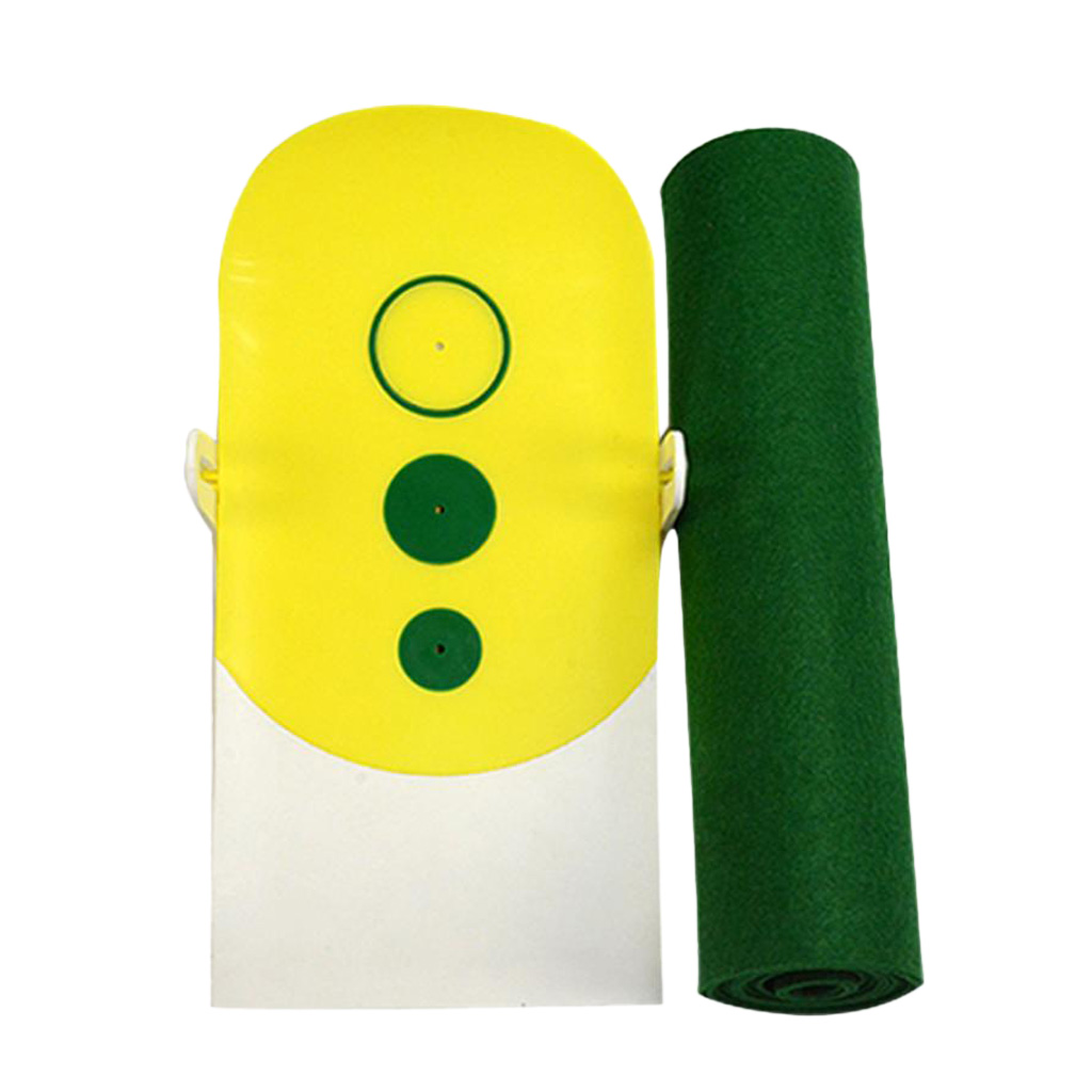 Professional Portable Roll Up Accurate Golf Club Putt Trainer Mat Simulator golf putting mat mini golf putting trainer with automatic ball return indoor artificial grass carpet