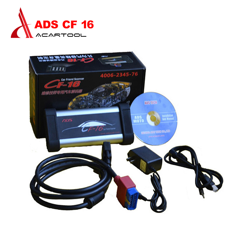 OBD2 Scanner Car-Scan-Tool Automotive Based-On NEWEST OBDII Ce No CF-16 ADS1200 Pc-System