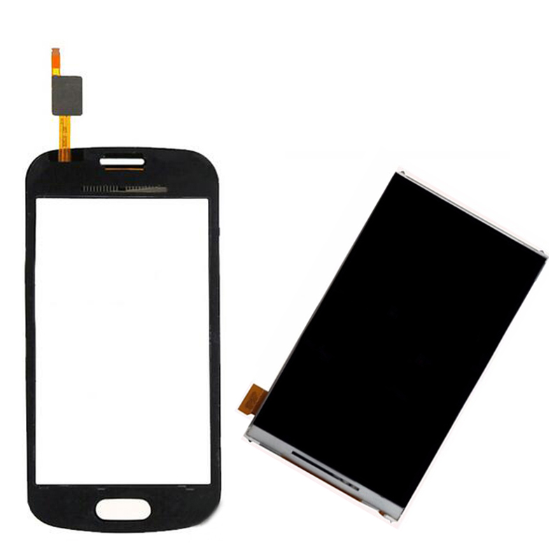 Black/White For Samsung S7390 7392 GT-S7390 Touch Screen Digitizer Sensor Glass + LCD Display Screen Panel Monitor Replacement