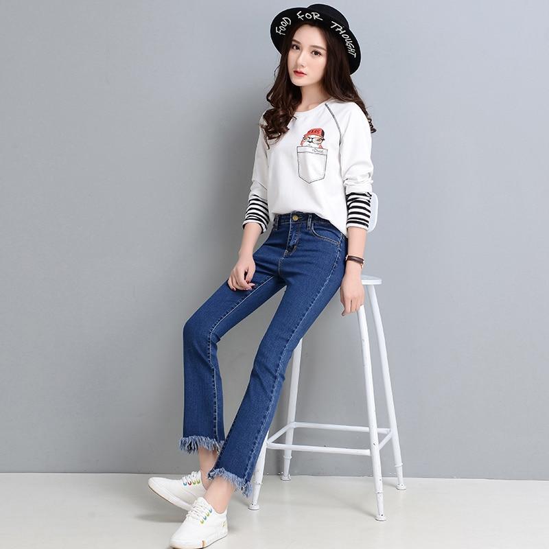 Brilliant Pengpious Fashion New Autumn Denim Blouse Women Loose Long Sleeeves Girls Denim Shirt With Pockets Women's Clothing