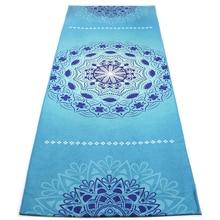 Non Slip Yoga Mat Towel Microfiber for Hot Yoga Printed Towel with grip  Corner Pockets Lightweight 8284df4402512