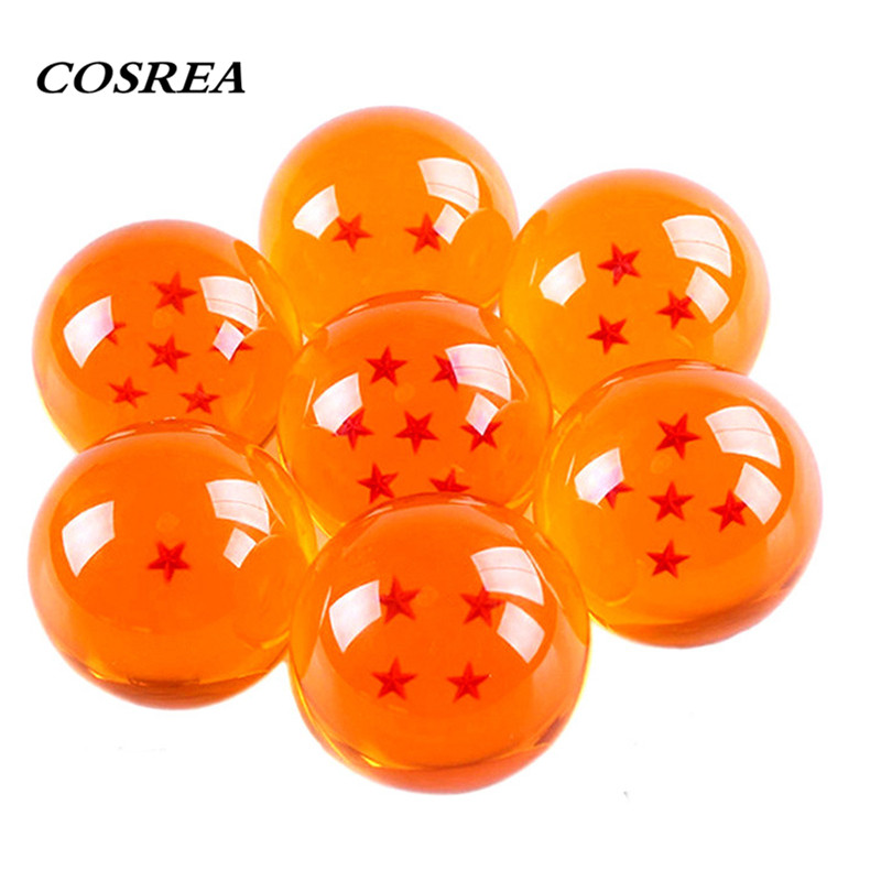 7pcs/lot Dragon Ball 3.5CM 7 Stars DragonBall Crystal Ball Box Packaged PVC Toy Ornament For Kids Boys Girls Complete Set Retail