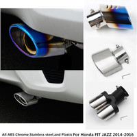 Car Styling Cover Muffler Exterior End Pipe Dedicate Stainless Steel Exhaust Tip Tail 1pcs For Honda