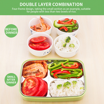 Kids Lunch Bag | Environmental Protection Stainless Steel Japanese Lunch Box With Compartments Bento Box For Kids School Picnic Food Lunch Box