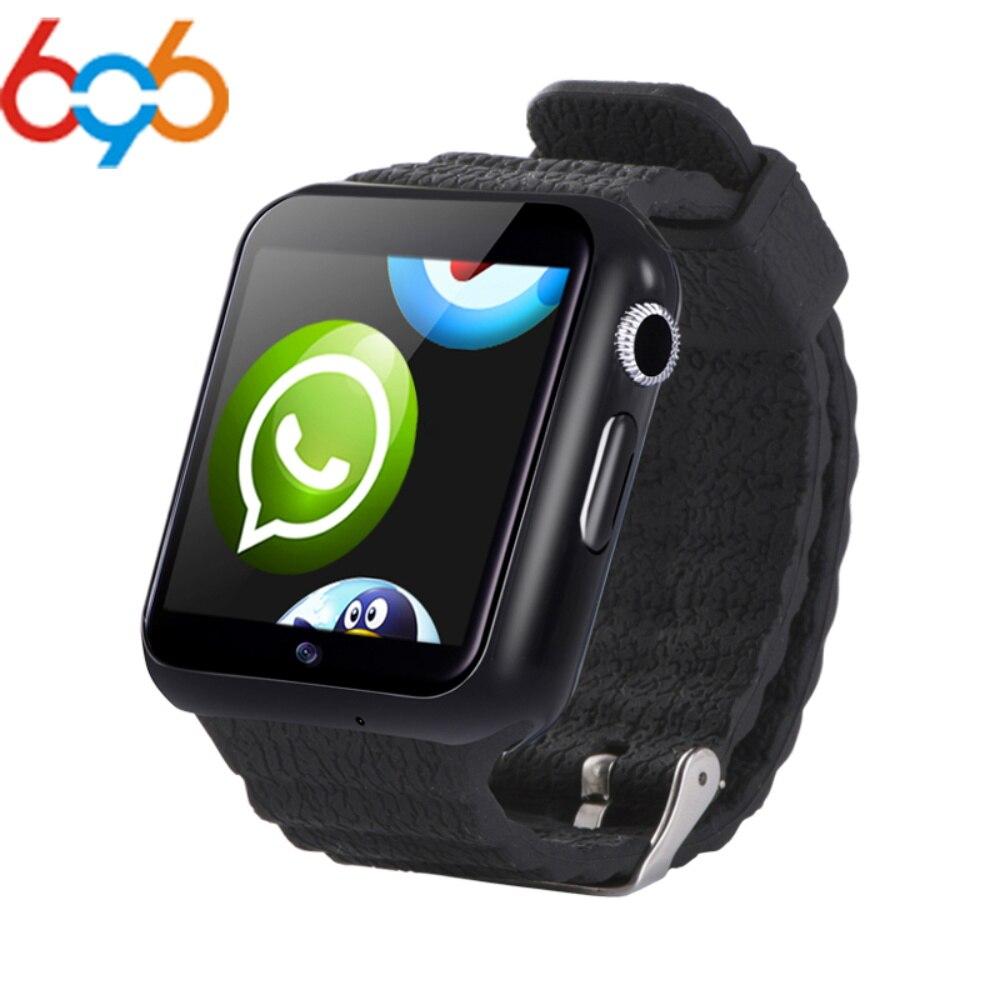 696 V7W montre intelligente SIM caméra Smartwatch pour Android Smartphone écran tactile MTK6572