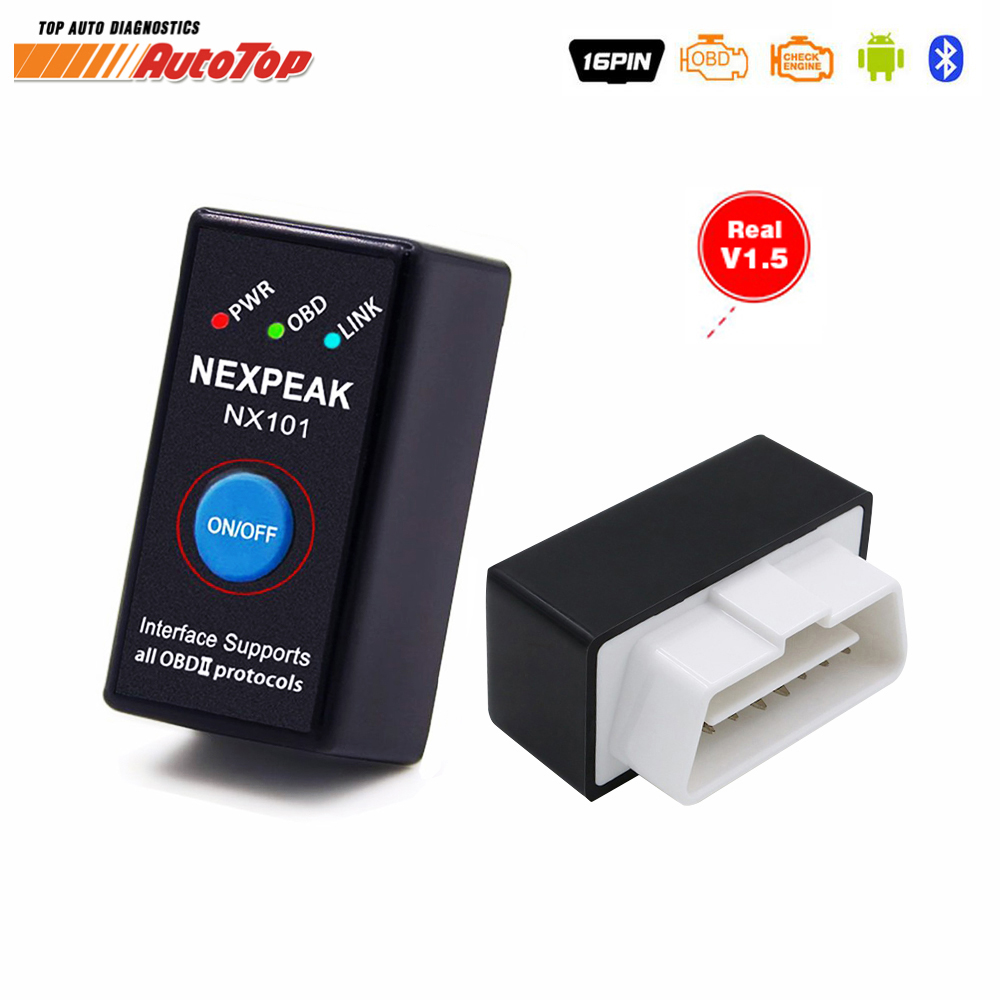 2017 Best OBD OBD2 Bluetooth Adapter EML 327 OBD2 V1.5 Auto Diagnostic Scanner for Android/ PC Car Diagnostic Tool ODB2 EML327 launch automotive obd2 diagnostic tool professional obdii bluetooth adapter golo easydiag premium for android ios scanner