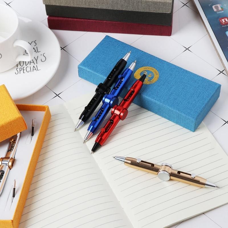 Neuheit Fidget Spinner Metall Stift Anti Stress Stift Spielzeug Kugelschreiber Kinder Schüler