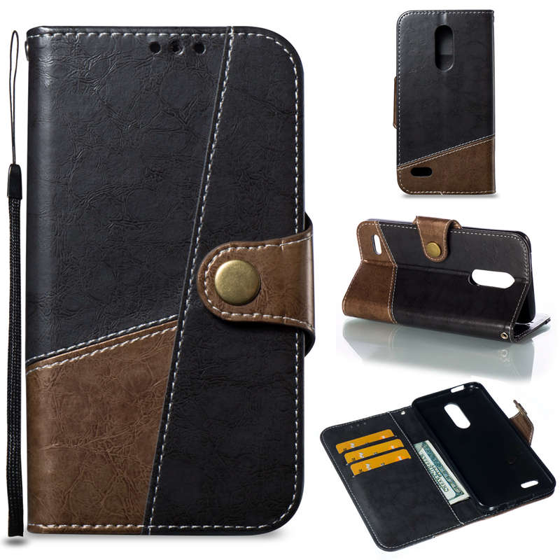 6422509d36c Luxury Flip Wallet Card Case For LG K8 K10 2017 (LV3 / Aristo) X240 K8 K10  G7 ThinQ 2018 Protective Phone Cover TPU Card Case