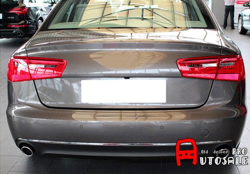 2.0 T pour Audi A6 C5 C6 2005-2011 platine inoxydable Chrome queue tuyau d'échappement silencieux pointe extérieur pièces de voiture 2 pcs