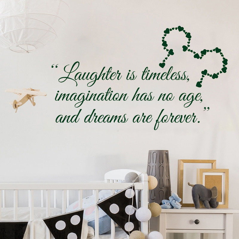 Mickey Mouse Ears Wall Sticker Kids Boys Girls Bedroom Decoration Quote Home Decor Beauty Poster W556