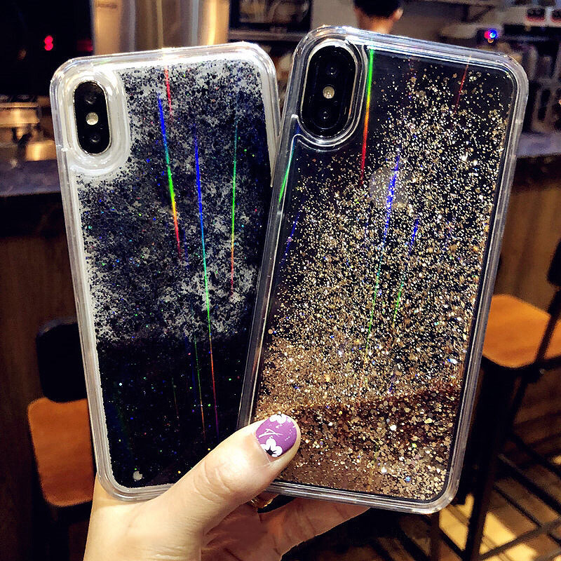 Quicksand-Capinha-For-iPhone-7-8-Plus-X-XR-Xs-Max-Hard-Plastic-Glitter-Case-Cover (1)