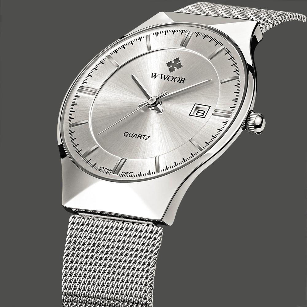 ac9081f33 ساعات رجالية رقيقة جدا من الفولاذ المقاوم للصدأ – TSWQ | تسوق