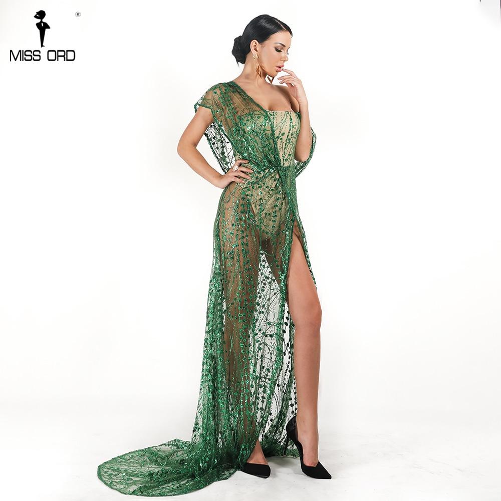bddd7fc8179 Läbipaistev pikk roheline või hõbedane kleit