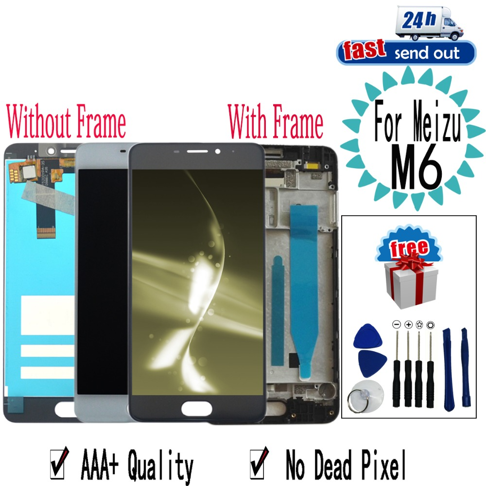 """5.2"""" LCD For MEIZU M6 LCD Display M711H M711M M711Q Touch Screen Digitizer Assembly Replacement with Frame For MEIZU M6"""
