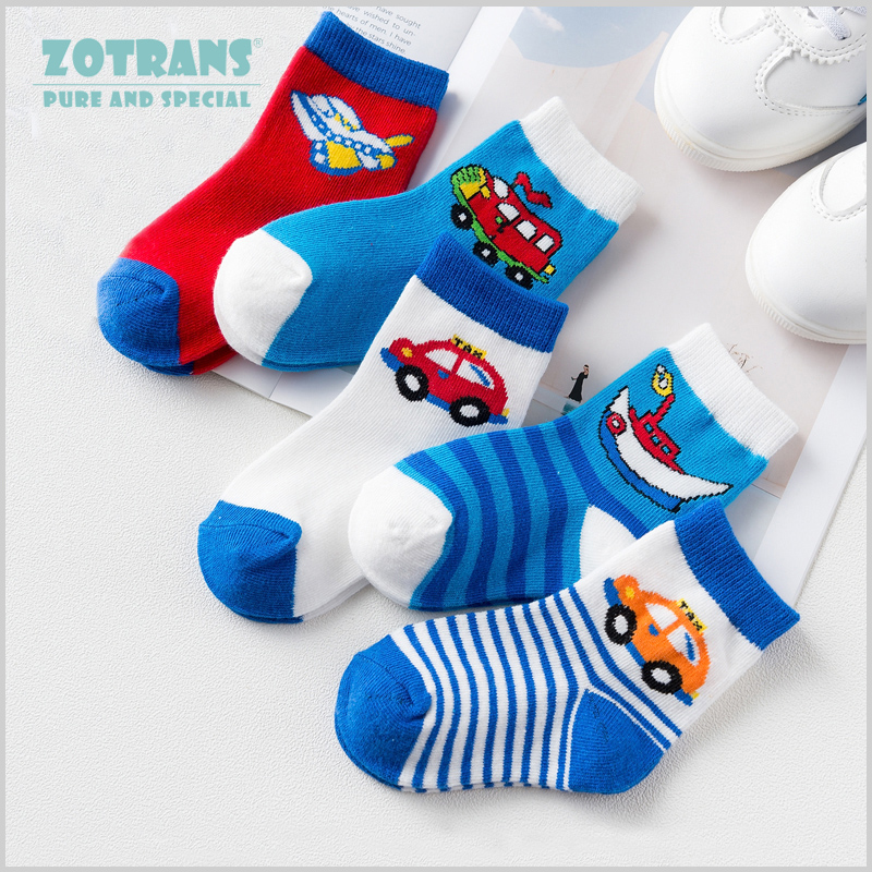5 Pair/lot Toddle Baby Boy Socks Newborns Cotton Summer Autumn Cartoon Socks Infant Kids Short Socks For 0-2Years