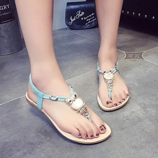 d1d70090 2018 fashion Women Sandals rhinestone Comfort inside summer 35 42 Women  flip flops shoes flat Beach Sandals-in Women's Sandals from Shoes on  Aliexpress.com ...