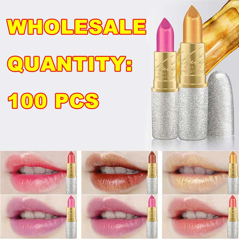 New Hengfang Matte Lipstick Makeup Golden 6 Color Nude Long Lasting Pigment Lips Stick Natural Cosmetic Lip Rouge H9312 wholesal 12pcs set lip kit matte velvet lipstick long lasting nutritious lip sticks lip balm lips makeup batom cosmetic hengfang