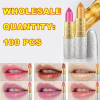 New Hengfang Matte Lipstick Makeup Golden 6 Color Nude Long Lasting Pigment Lips Stick Natural Cosmetic Lip Rouge H9312 wholesal