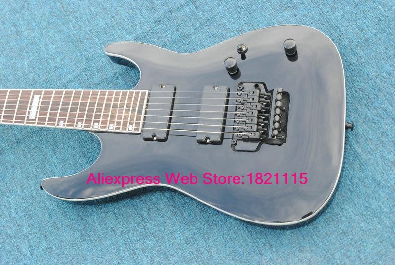 7 strings black electric guitar rosewood fingerboard wholesale high quality guitars in guitar. Black Bedroom Furniture Sets. Home Design Ideas