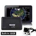 7 pulgadas GPS Navegación Android Pantalla Capacitiva WIFI de La Cámara de Visión Trasera de Aparcamiento de Camiones vehículo 16 GB PC Rusia Navegador Europ mapa