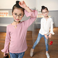 t-shirt girl Kids clothes Girls tops Girl t-shirt Costume Lotus leaf sleeve T-shirt Children clothing Moda juvenil menina tshirt
