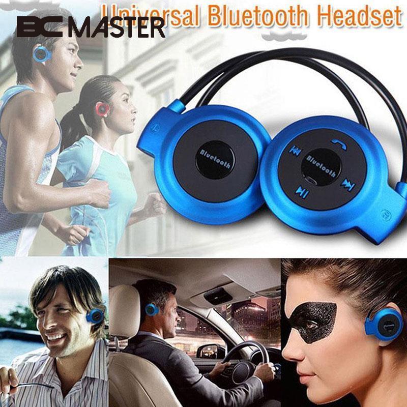 BCMaster Mini 503 Wireless Bluetooth Ear-hook Foldable Sports Headphones Music Headset Earphone with TF Slot FM Radio Speakers