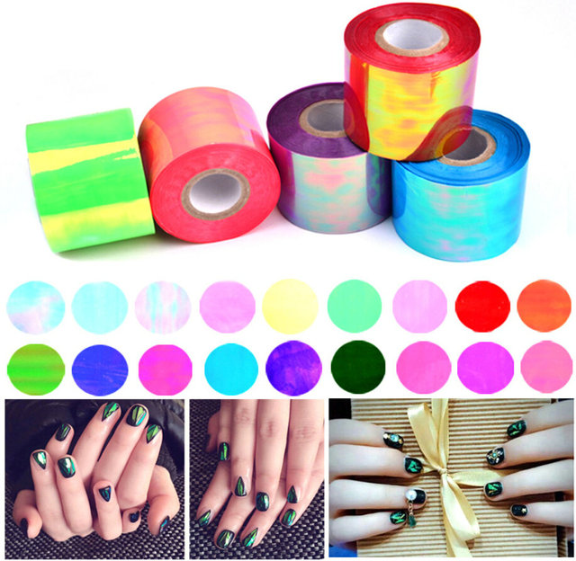 100m explosion models nail stickers nail stickers Aurora cullet Symphony irregular paper platinum glossy paper candy wrappers