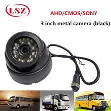 Source Factory Metal Hemisphere Black Car Camera 600TVL Surveillance Probe NTSC / PAL Support 720P/960P/1080P HD Pixels