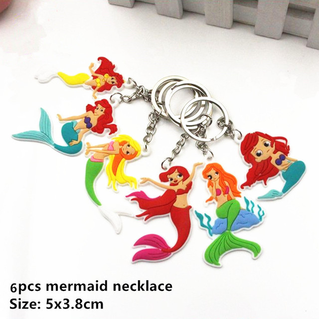 6pcs M Keychain Mermaid party plates 5c64f5cb3123b