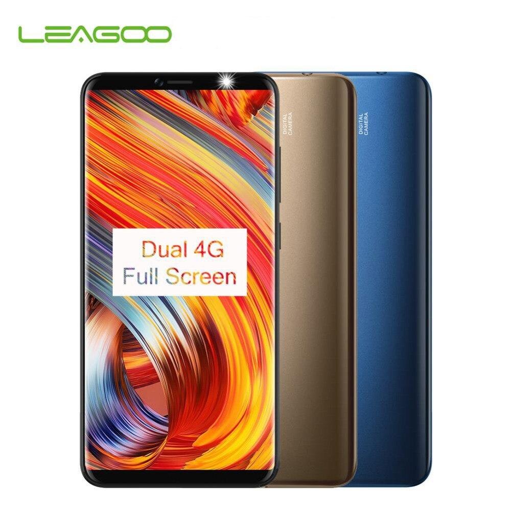 Leagoo M9 Pro 18:9 Plein Écran 4G Smartphone Android 8.1 MT6739V 5.72 Quad Core 2 GB RAM 16 GB ROM 13MP Face Unlock Mobile Téléphone