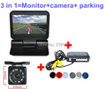 Video Parking Assistance Sensor Backup Radar + Rear View Camera HD + 5 inch automatical flip close and open LCD Monitor Video