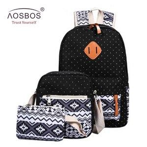 Aosbos 3Pcs/set Stylish Printi